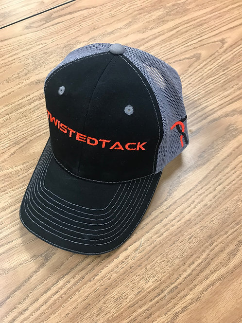 ORANGE/BLACK TWISTED TACK HAT