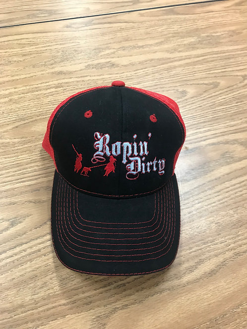 RED/BLACK ROPIN' DIRTY HAT