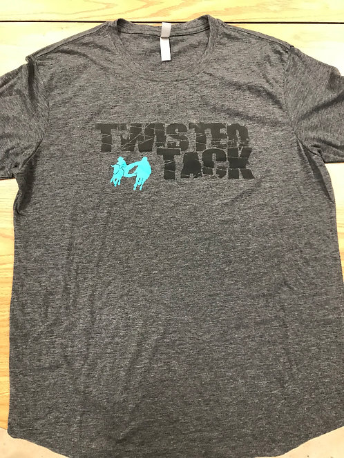 MENS GRAY TWISTED TACK TSHIRT