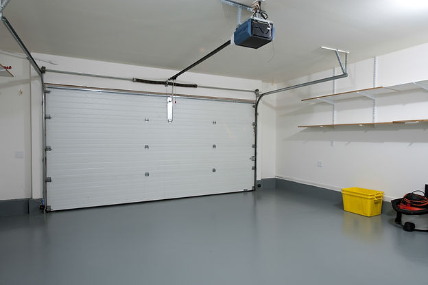 Interior of a clean garage in a house.jp