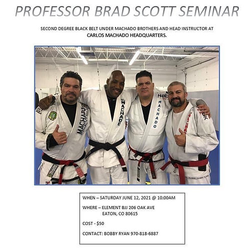 Professor Brad Scott Seminar!