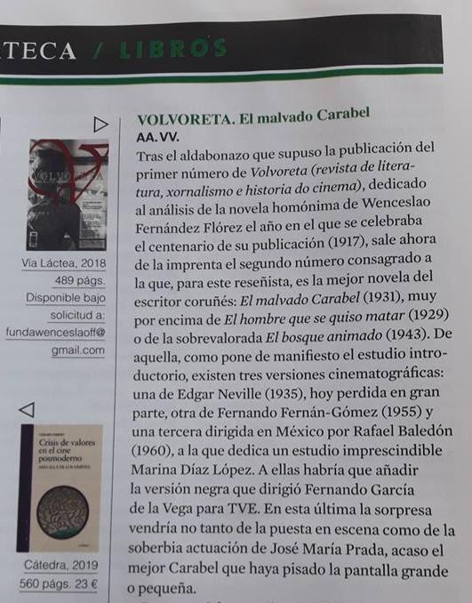 La revista 'Caimán' dedica una reseña al número 2 de 'Volvoreta'