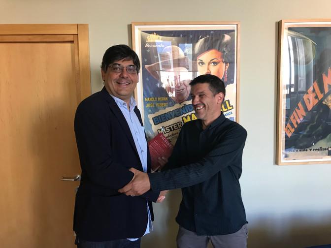 Reunión entre el presidente de la Fundación WFF y el nuevo director de Filmoteca Española