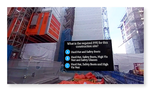 Construction Site Induction Training Elearning 360 VR