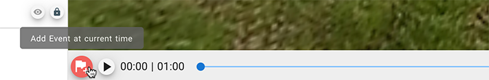 'Add event at current time' button in CenarioVR