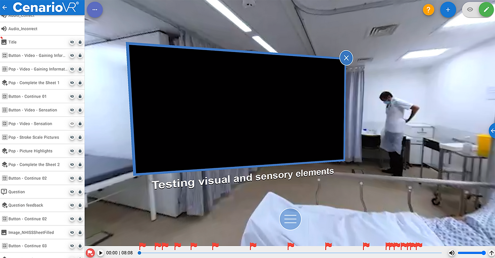 Video inside CenarioVR 360 scene