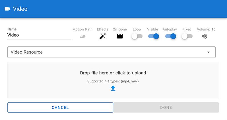 Video options in CenarioVR