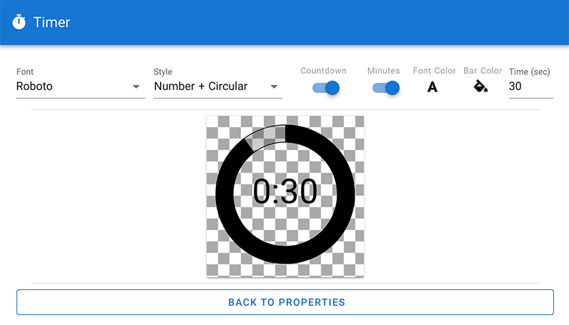 Timer style options in CenarioVR