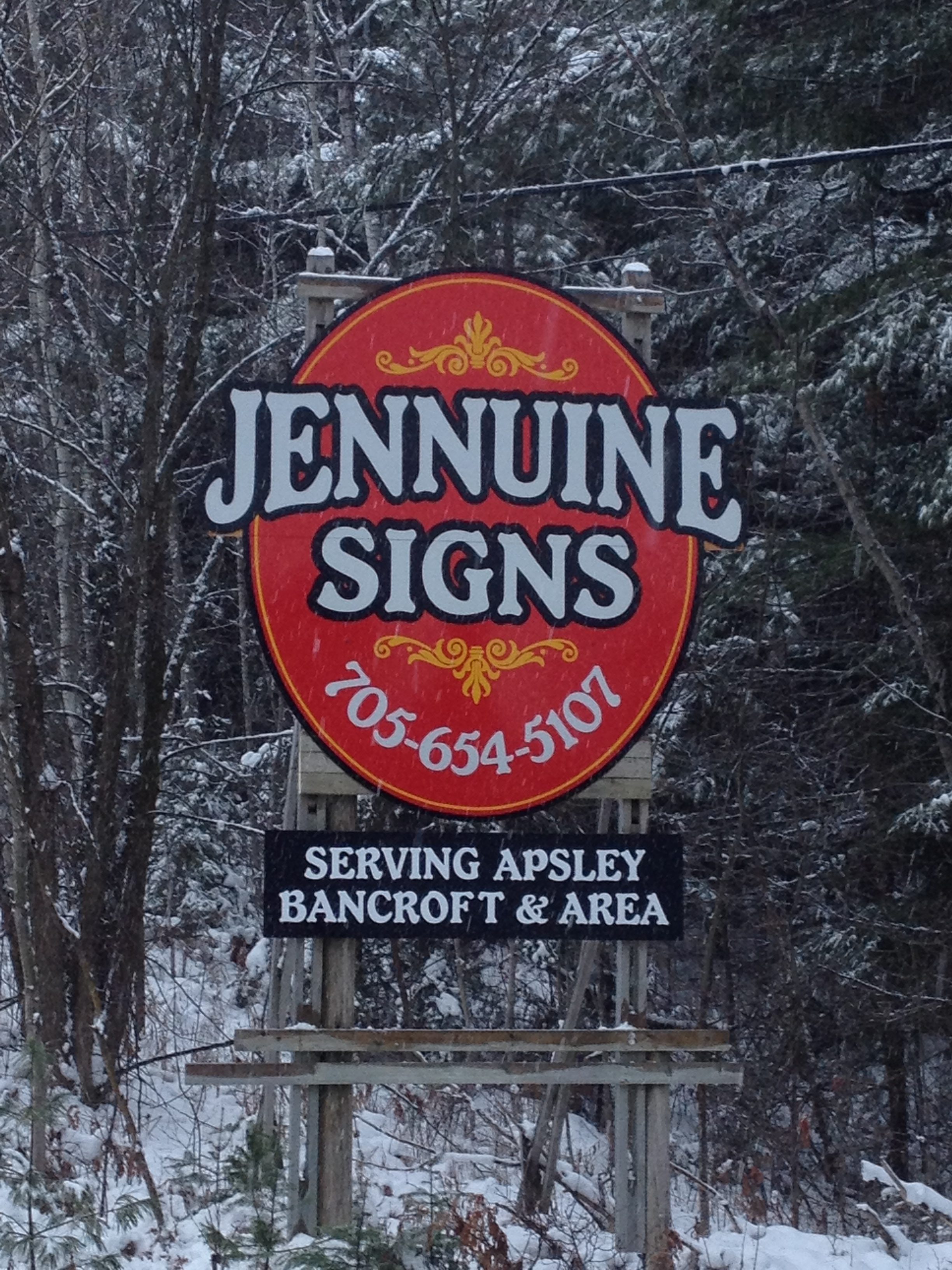 Jennuine highway sign