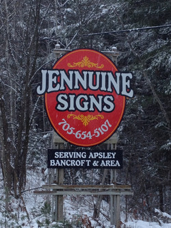Jennuine highway sign