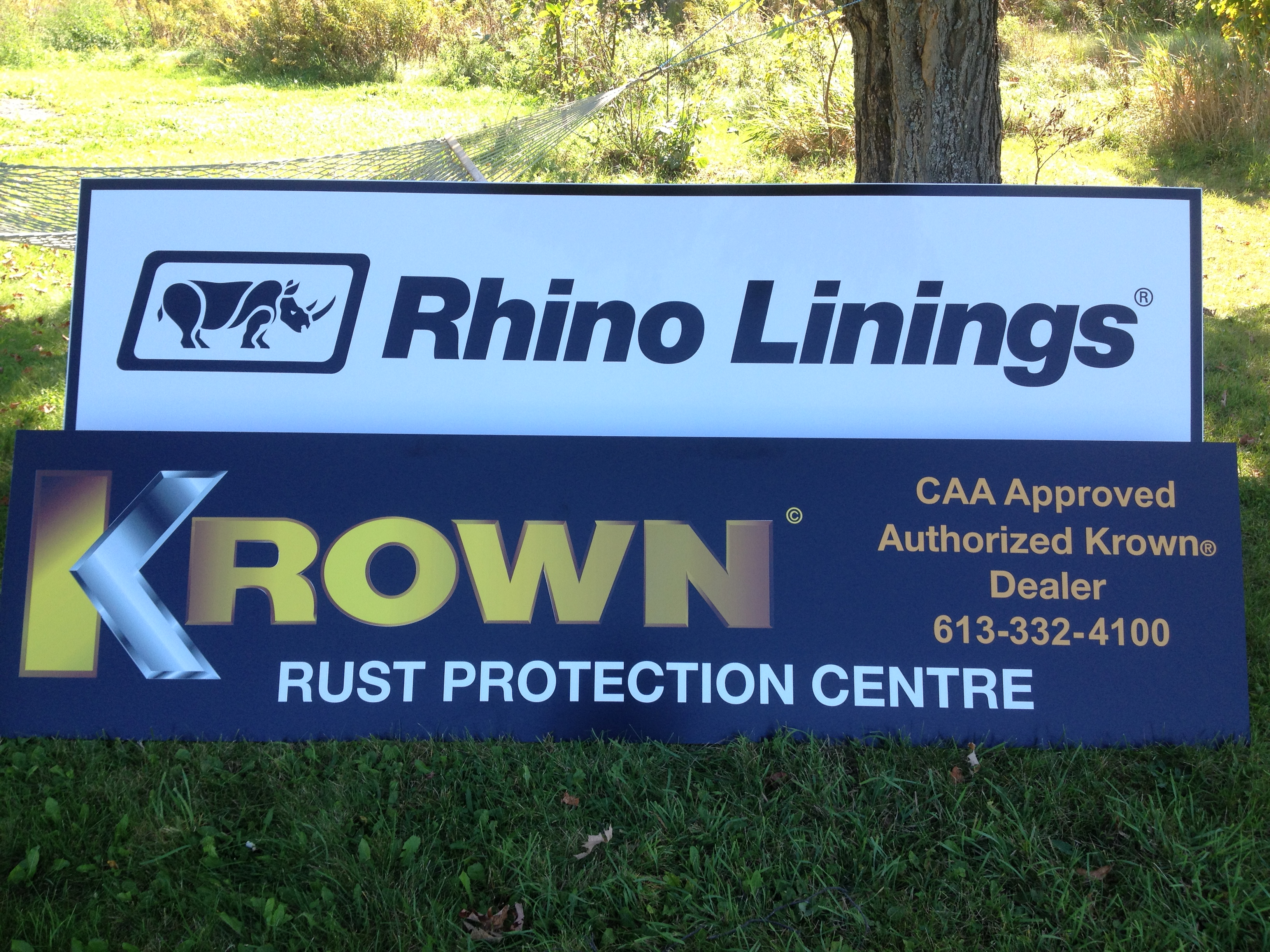 Crownline Rhino and Krown Signs.JPG