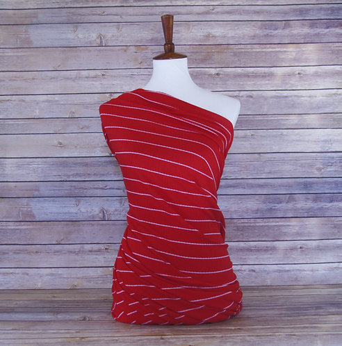 Red - Pointelle - Stripes