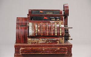 Det 100 år gamle fungerende kasseapparat fra Amerikanske National