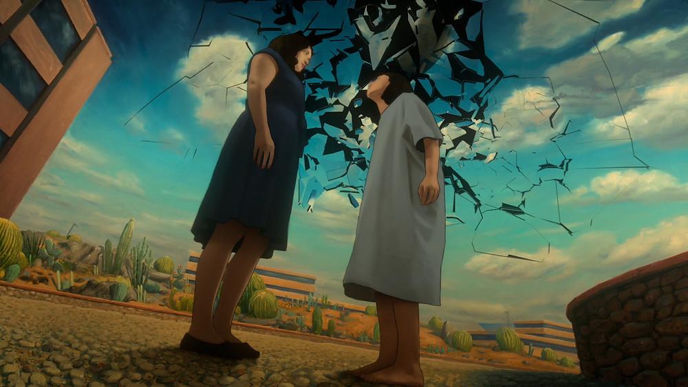 Cena da série Undone estrelada por Rosa Salazar