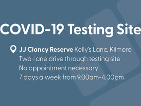 KDH COVID-19 Testing moves to JJ Clancy Reserve