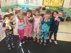 Pajama Day in the Kindergarten Class