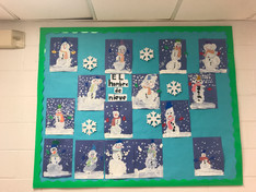 The Spanish Class are learning about winter and they Muñecos de Nieve.