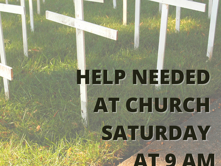 Help Needed Removing Pro-life Crosses this Saturday 10/24