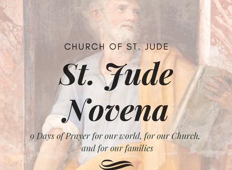 9 Day St. Jude Novena starts tomorrow!