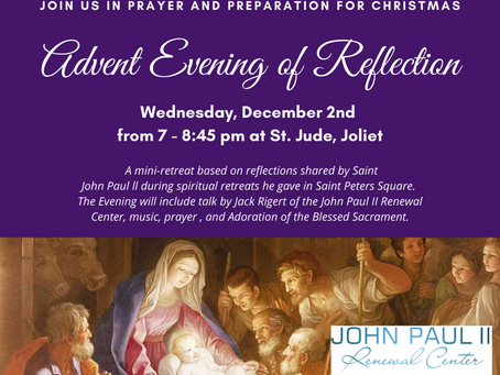 St. Jude Advent Mini-Retreat Tomorrow, Wednesday December 2nd at 7 pm