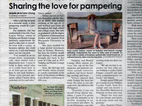 NailPlay and Beauty Lounge - Sharing the love for pampering by Philippine Star