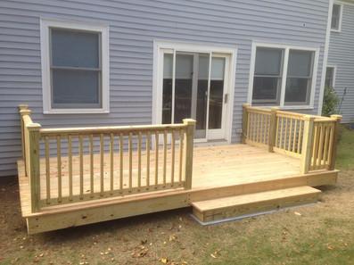 New back deck for Barrington home.