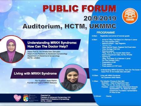 UKMMC Public Forum 20 September 2019