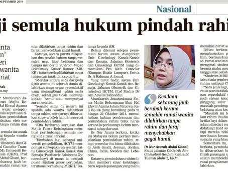 Berita Harian 22 September 2019