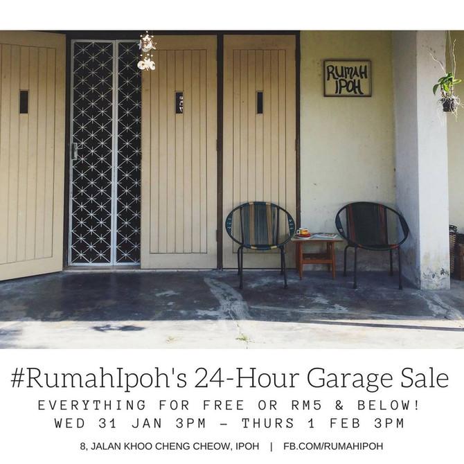 #RumahIpoh: 24-hour Garage Sale