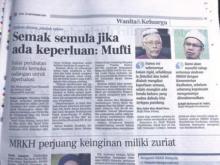 Berita Harian 23 September 2019