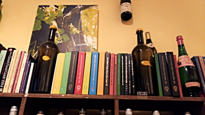 A collection of Platter's wine guides at Signal Hill winery