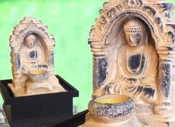 Fuente Buda Antiguo Y Luz 17X17X26 Cms