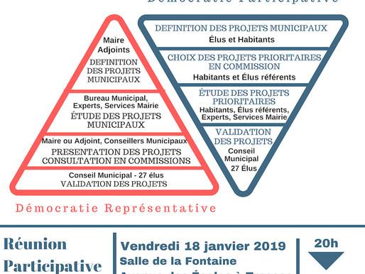 Réunion Participative à Tresses vendredi 18 janvier 2019