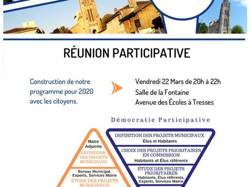 Réunion Participative à Tresses vendredi 22 mars 2019