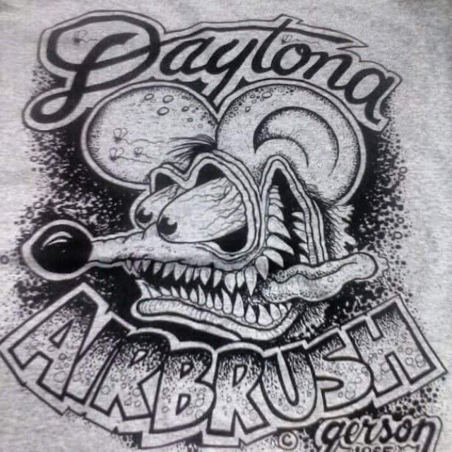 We printed these for our buddy Henry at Daytona Airbrush #fink #daytona #airbrush #ratfink #hamb #ho
