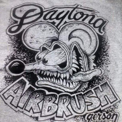 We printed these for our buddy Henry at Daytona Airbrush #fink #daytona #airbrush #ratfink #hamb #ho