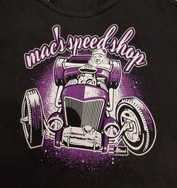 Printed up some more of the Hot Rod Girl tank tops for our friends _macspeedshop featuring art by Je