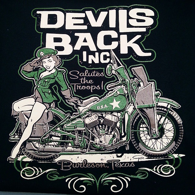 Shirts we printed for our buddy Allan at Devils Back featuring art by Ger Peters...need shirts for y