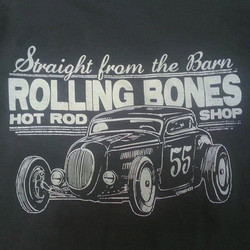 printed these tshirts for The Rolling Bones Hot Rod Shop #RODTEES #tshirtsandothercrap #rollingbones