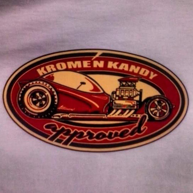 Our buddy Jeff Allison created this tee shirt design that we printed for the great Krome n Kandy Kar