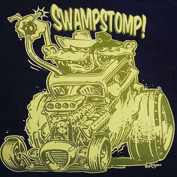 Our talented friend _allison_design created this killer tshirt design for The Swamp Stomp and we had