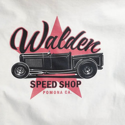 Simple and kool tshirt design with a retro look  by _allison_design for Walden Speed Shop that we ha