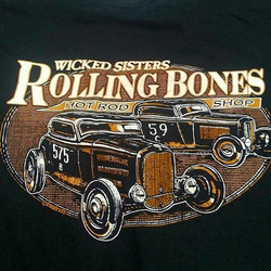 Killer tshirt design we printed for our friends at Rolling Bones Hot Rod Shop #rodtees  #tshirtsando