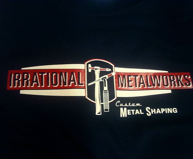 We printed these heavyweight sweatshirts for our buddy Tim _irrationalmetalworksinc #hotrod #hamb #b