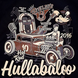 printed these hoodies and mechanics shirts for our buddy Mark Cain and his Hot Rod Hullabaloo #hotro
