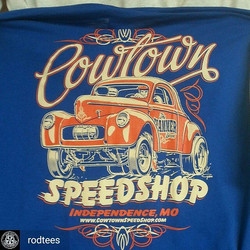 since we are on a gasser theme today here is a cool tshirt we printed for the cool folks at Cowtown