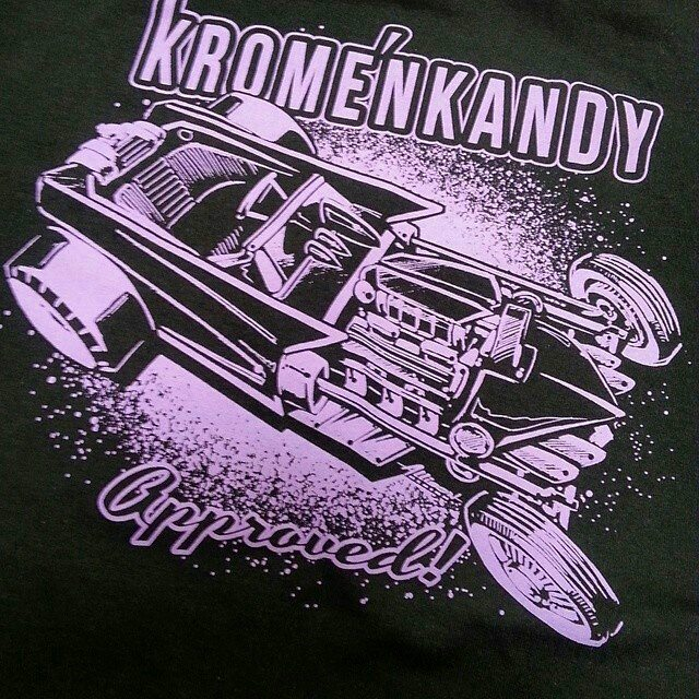 Kool tshirt design we printed awhile back with killer artwork by _allison_design #rodtees #tshirtsan