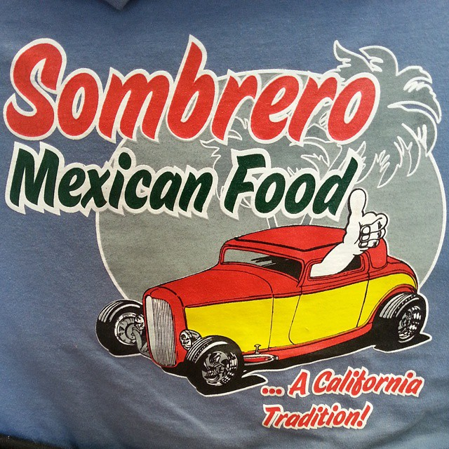 Another tee shirt design we printed and created for our friends at Sombrero Mexican Food in San Dieg