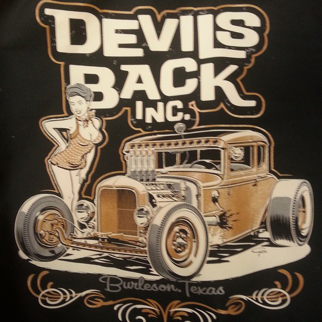 Another cool tee shirt design created by Ger Peters for Devils Back Inc