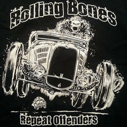 We love printing tshirts for Rolling Bones Hot Rod Sbop and this design by _jeffhotrod is one of our